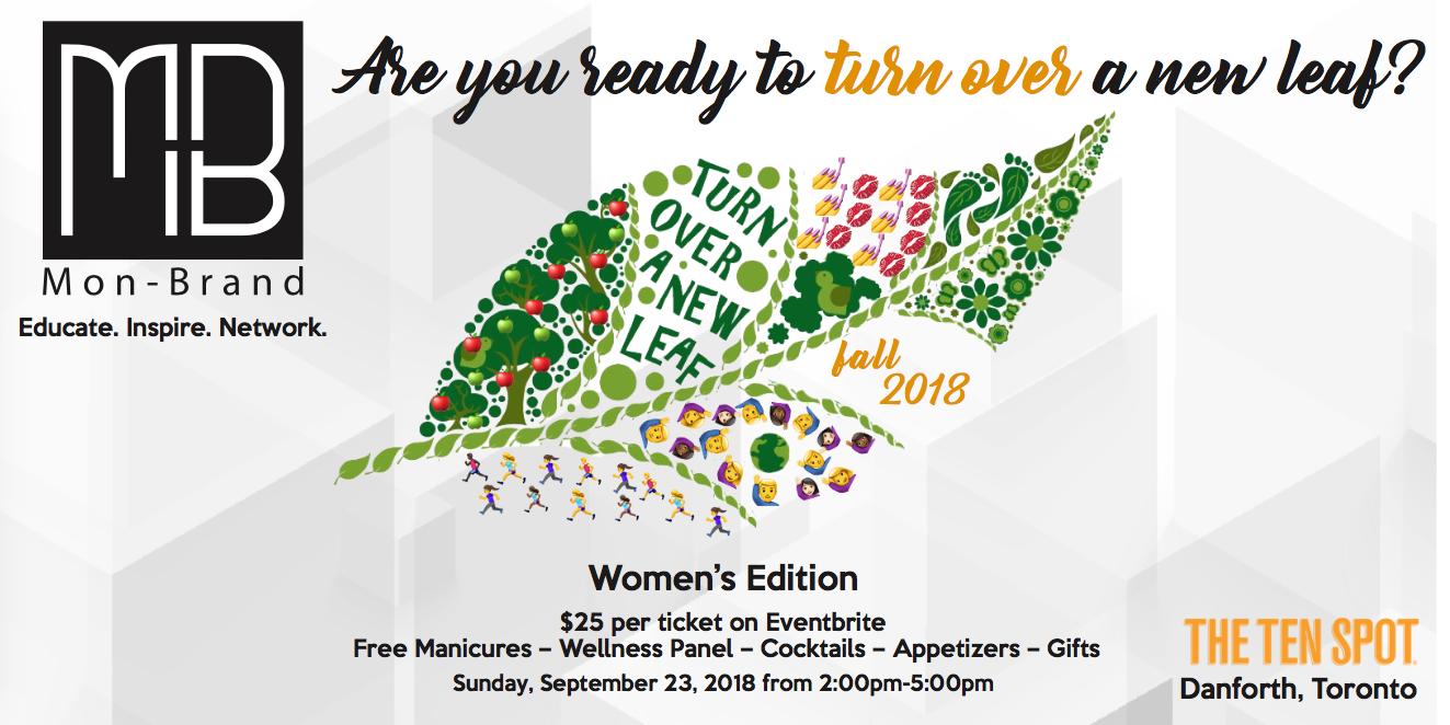 mon brand wellness event flyer