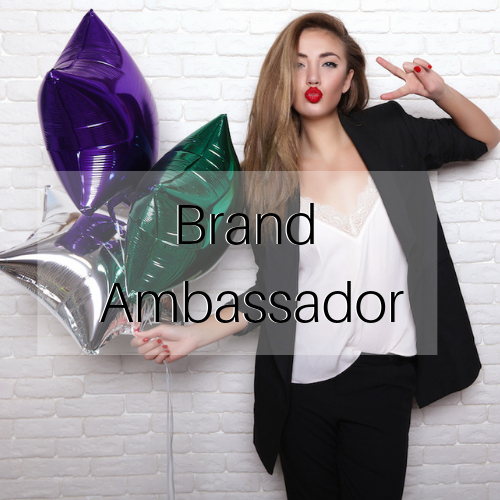 brand ambassador host page with title