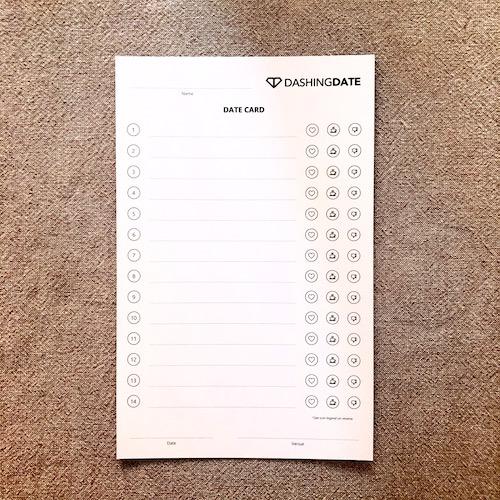 Date Card – Back